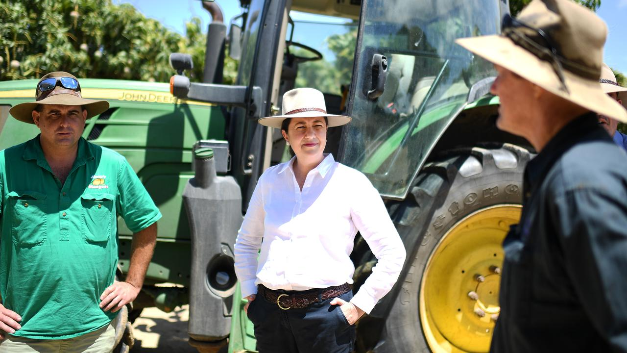 Queensland Premier Annastacia Palaszczuk announced cuts to irrigation prices for farmers should Labor wins government on October 31. Picture: NCA NewsWire / Dan Peled