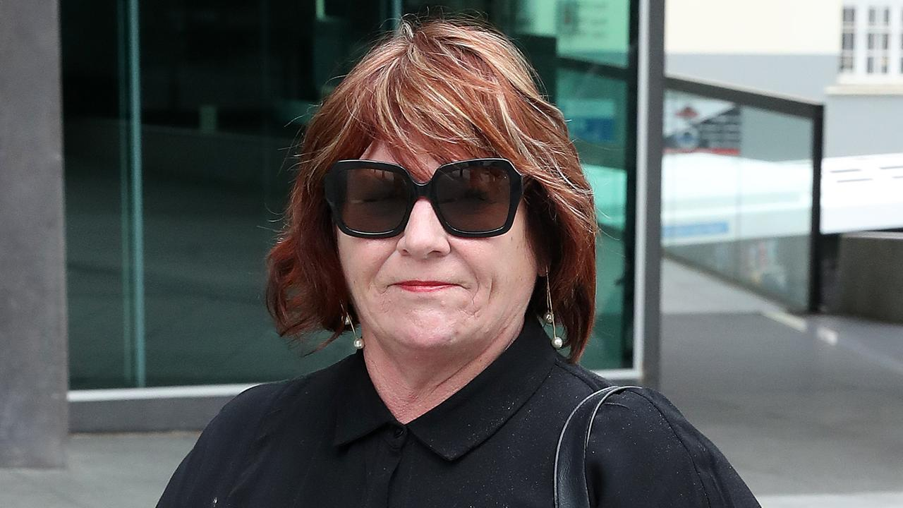 Removalist Thelma Anderson leaves an earlier court appearance. Picture: Liam Kidston.