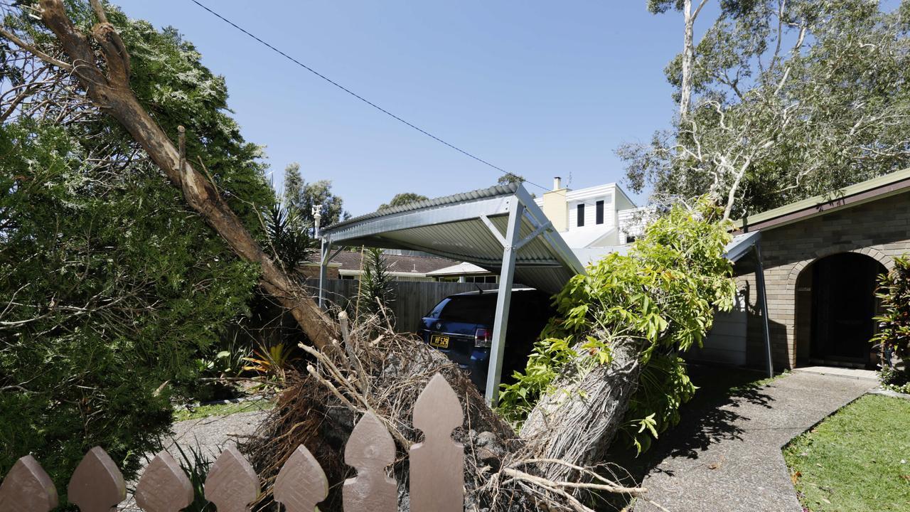 Storm damage in Coolum Beach after a storm. Photo Lachie Millard