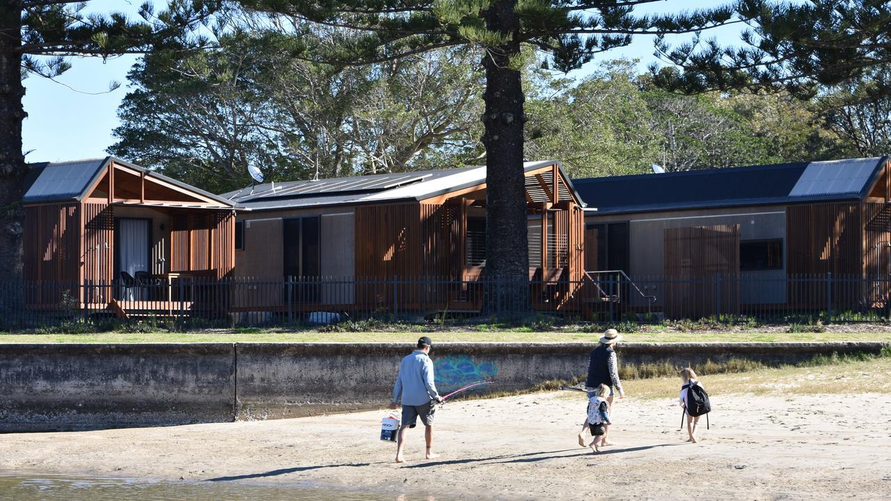 New cabins at Reflections Holiday Park at Evans Head.