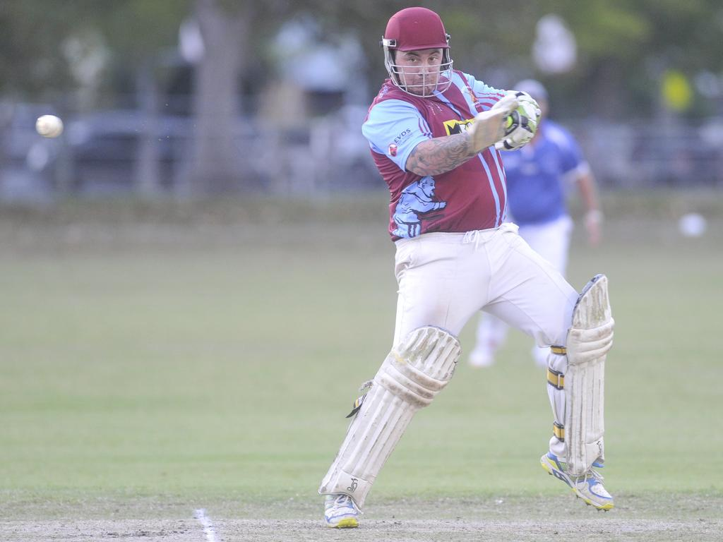 Beau Sevil during this innings of 54 during the Cleavers Mechanical Night Cricket grand final win against Tucabia-Copmanhurst at McKittrick Park on 8th March, 2019.