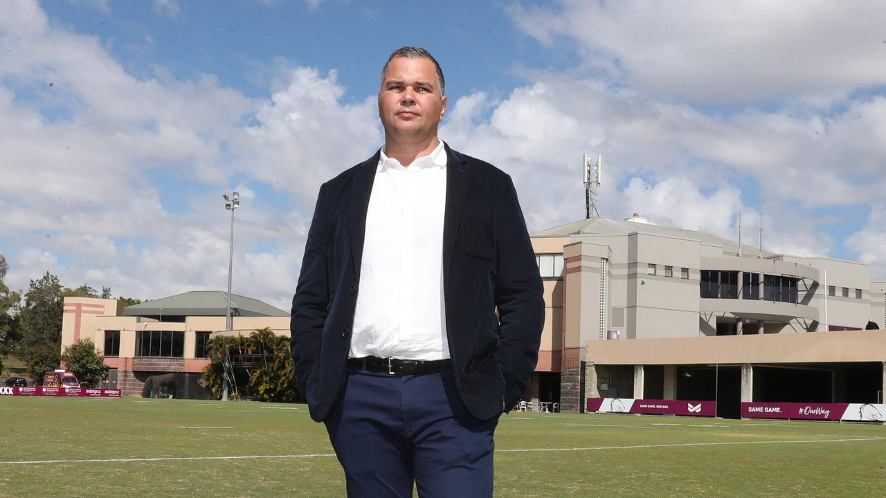 Anthony Seibold on the day he resigned from the Broncos coaching job. Picture: Annette Dew.
