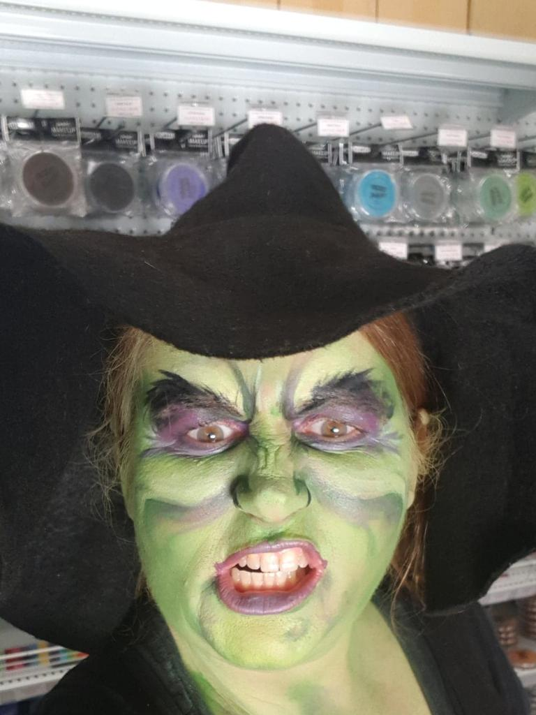 Kate Matthews gets right into the spirit of Halloween