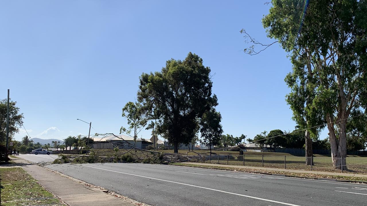 A powerline has fallen near Andergrove State School. Picture: Heidi Petith