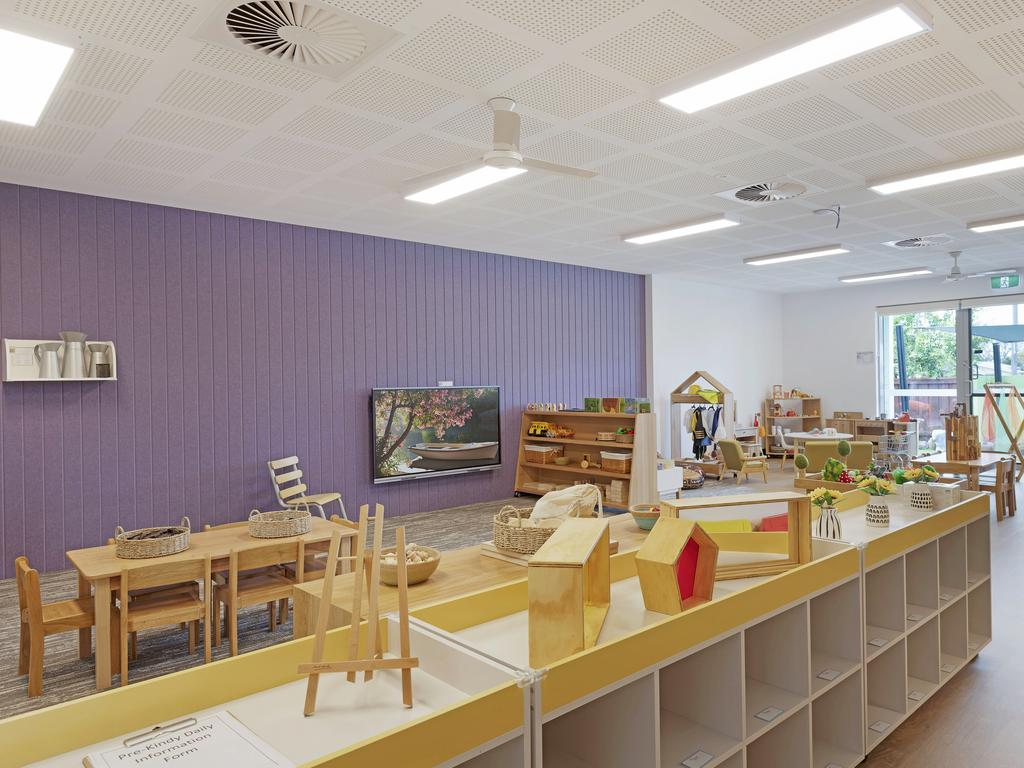 One of the spacious classrooms at Grow Early Education, which is now filled with natural and educational resources.