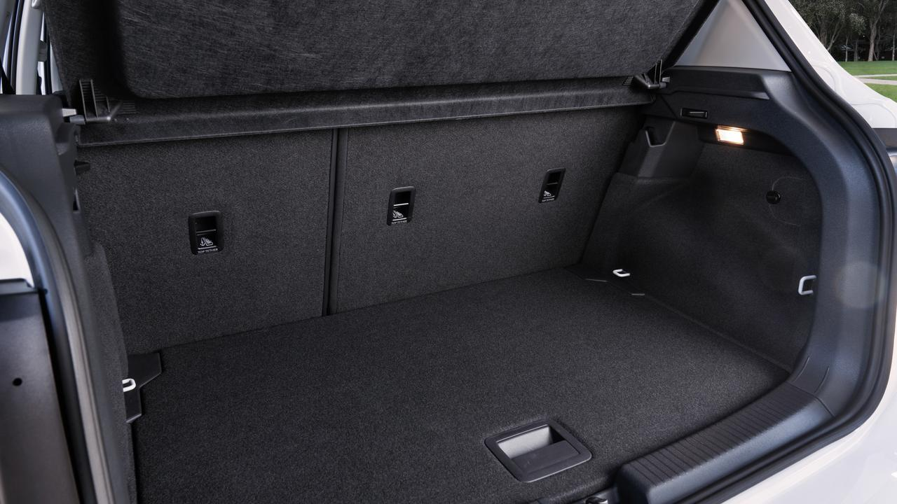 Boot space of the Volkswagen T-Cross 85TSI Life is competitive with rivals.