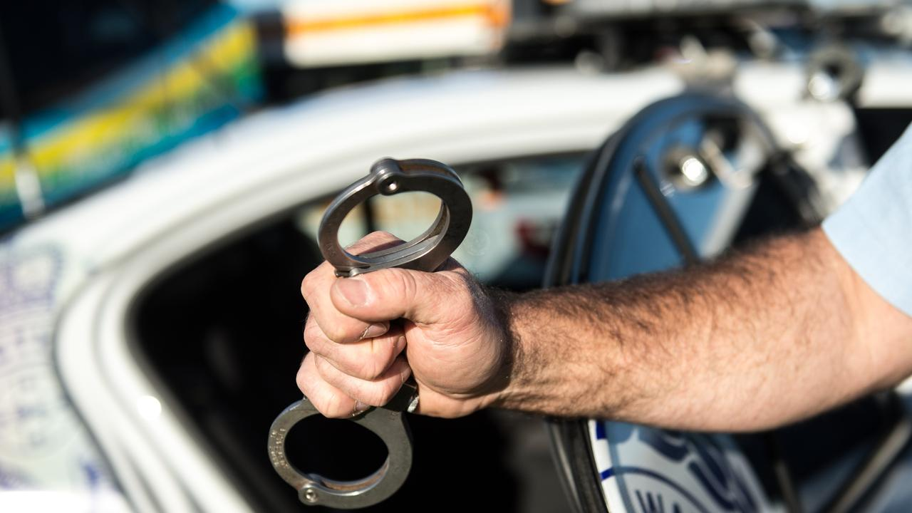 A man was arrested after allegedly stealing a ute with a tracking device.