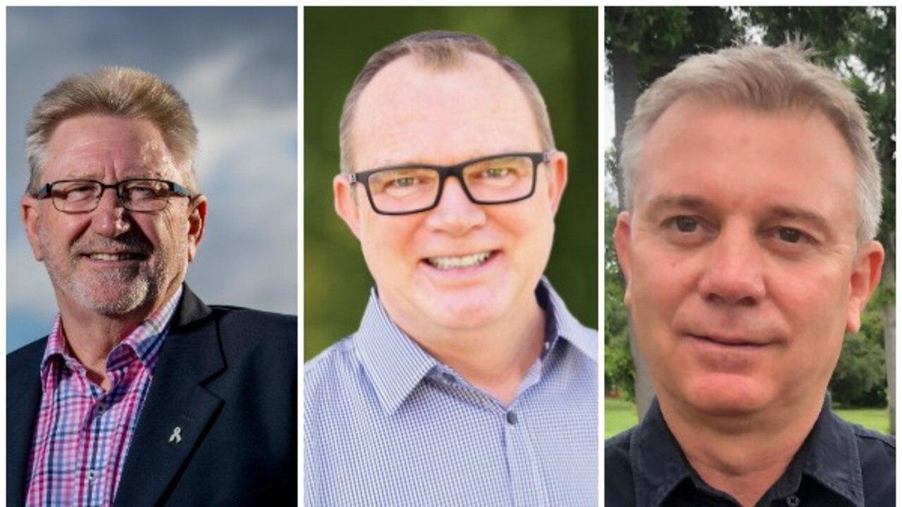 Candidates Michael Crandon, LNP, Chris Johnson, Labor, Darryl Prout, Animal Justice Party.