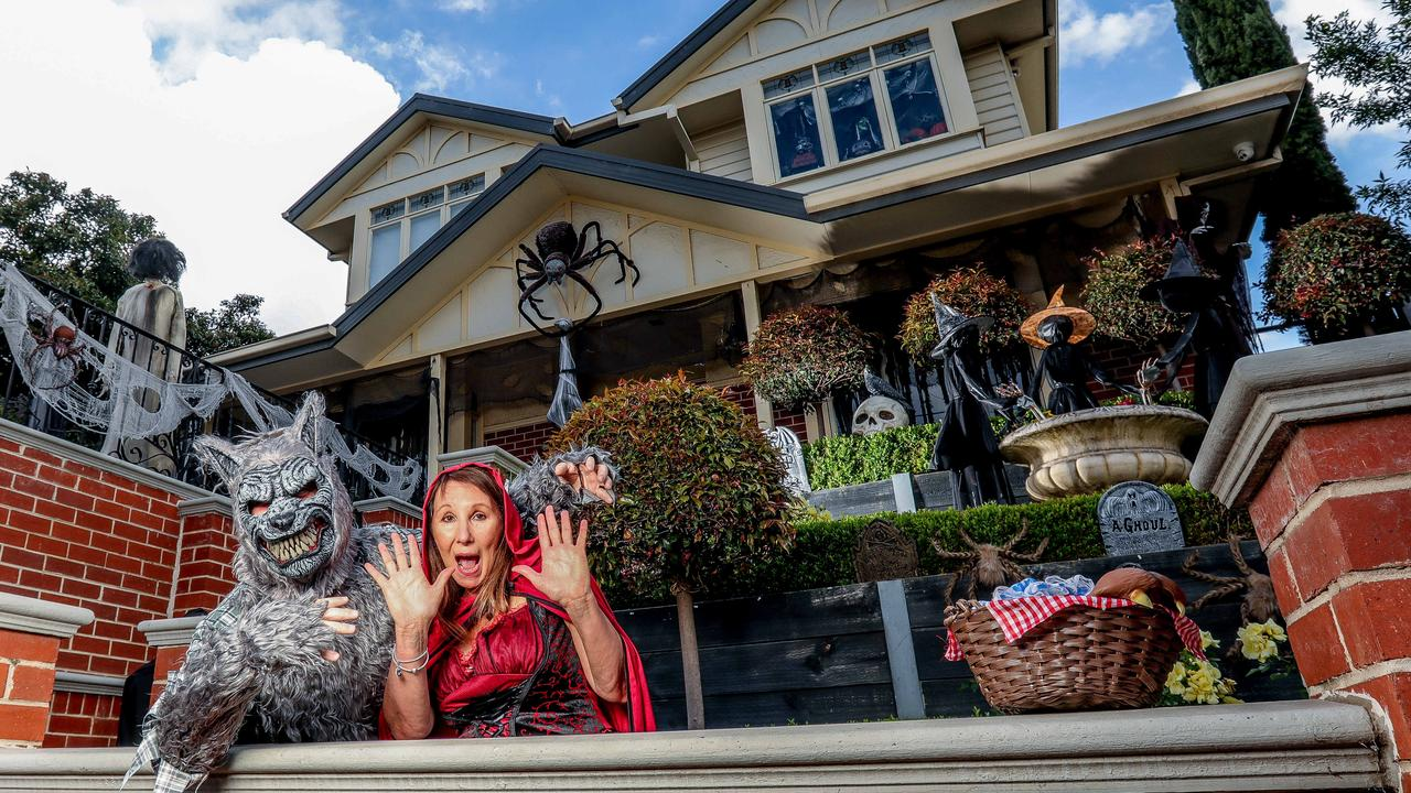 A spooktacular Halloween set up that normally stops traffic is ready to thrill in a year that's already been as scary as they come.