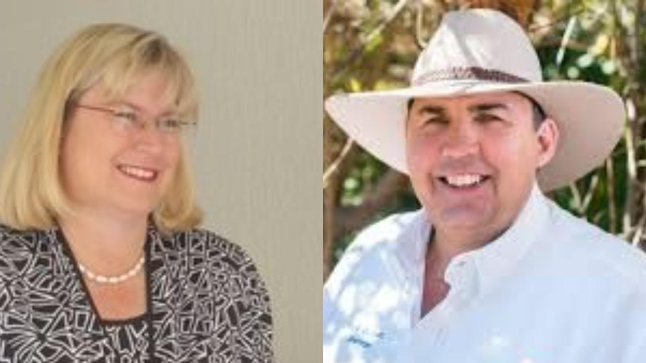 LNP candidate Ann Leahy and KAP candidate Rick Gurnett