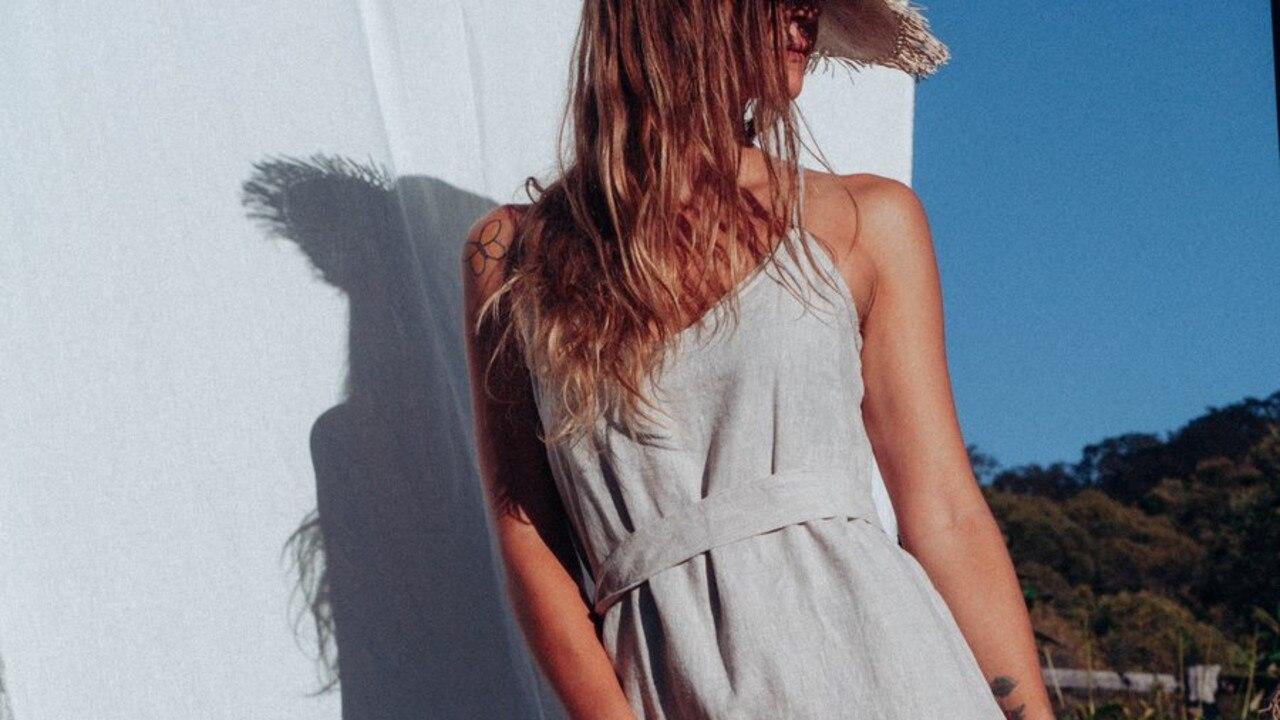 01/11/2020 - Sabali The Label Summer Linen Slip in Sand Picture: Sabali The Label