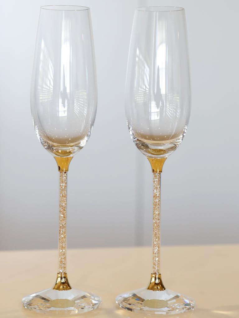 These Swarovski glasses were a wedding gift.