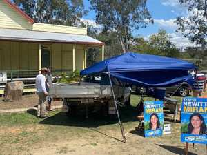 Vehicle ploughs into gazebo manned by CQ election volunteers