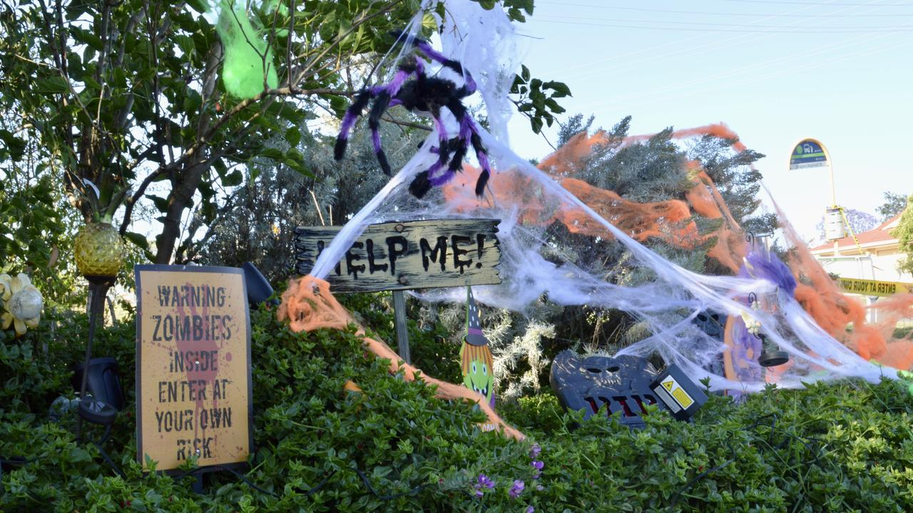 Some of the decorations at A Scream on Dragon Street.