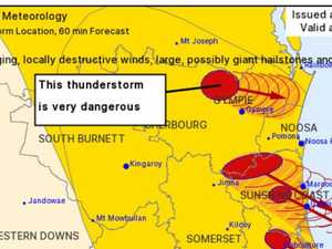 UPDATE: 'Very dangerous' thunderstorms move in on Gympie