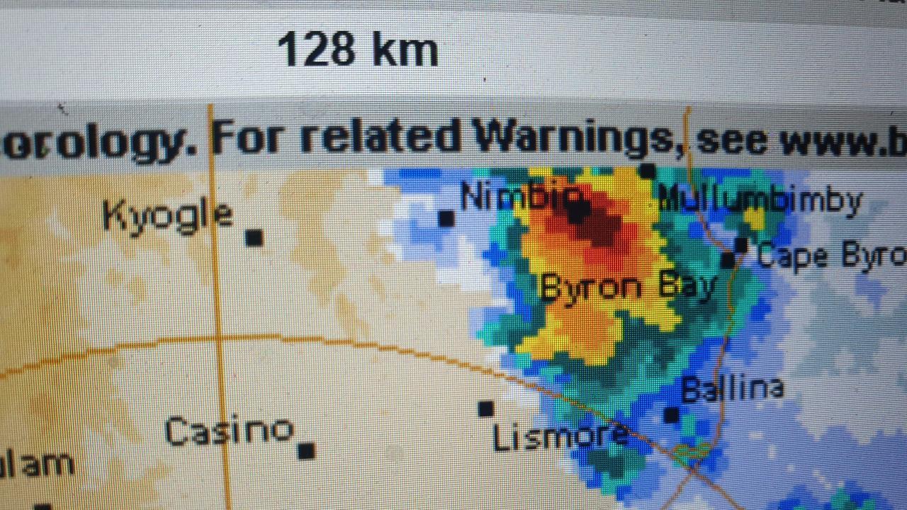 Weather radar from Saturday.