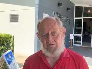 Wilson Beach resident Bruce Robjohns speaks on election day 2020