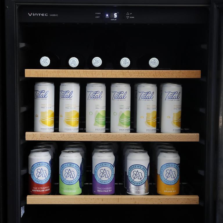 The bar fridge is always full.