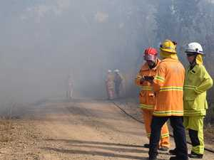 Bush blaze blankets highway in smoke