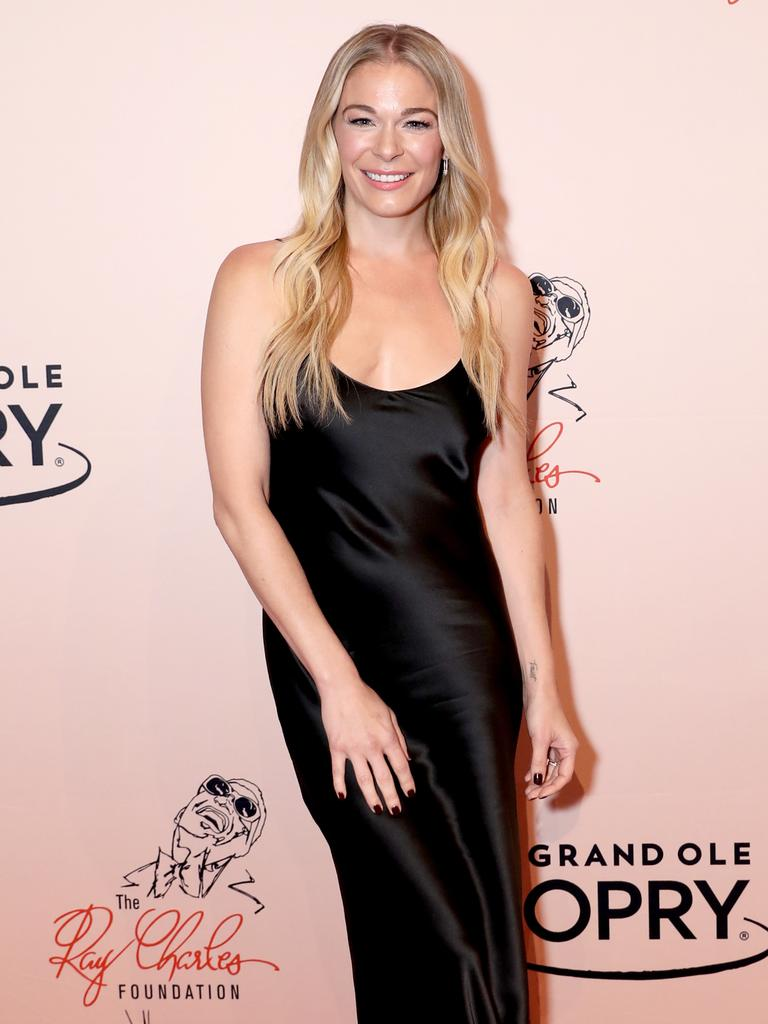 Rimes on a 2018 red carpet. Picture: Getty