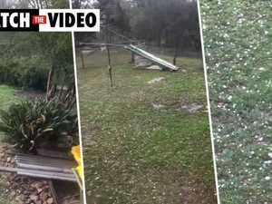Hail smashes Crows Nest on polling day