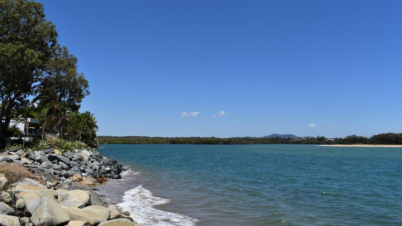 Where the ocean meets McCreadys Ck (left) at Slade Point.