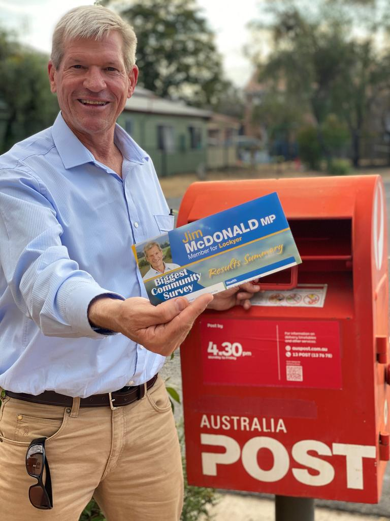 Lockyer MP Jim McDonald with his residential survey. Photo: Supplied