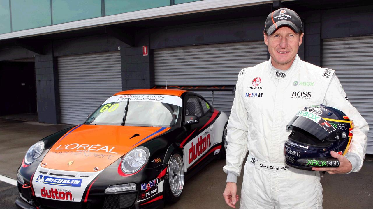 Mark Skaife with his Carrera Cup Porsche.