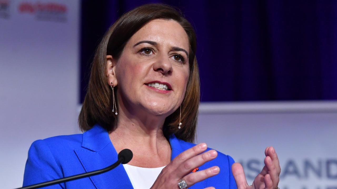 Opposition Leader Deb Frecklington has failed to win over voters. (AAP Image/Darren England)
