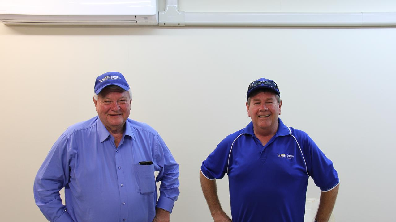 LNP candidate for Gladstone Ron Harding was joined by Federal Member for Flynn Ken O'Dowd and supporters to watch the result in the Queensland Election 2020.