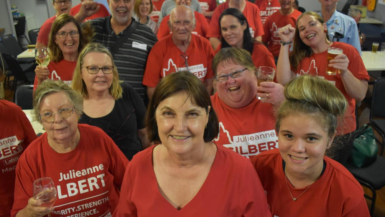 Mrs Gilbert said the election was decided by the everyday issues facing her community — education, health and jobs.