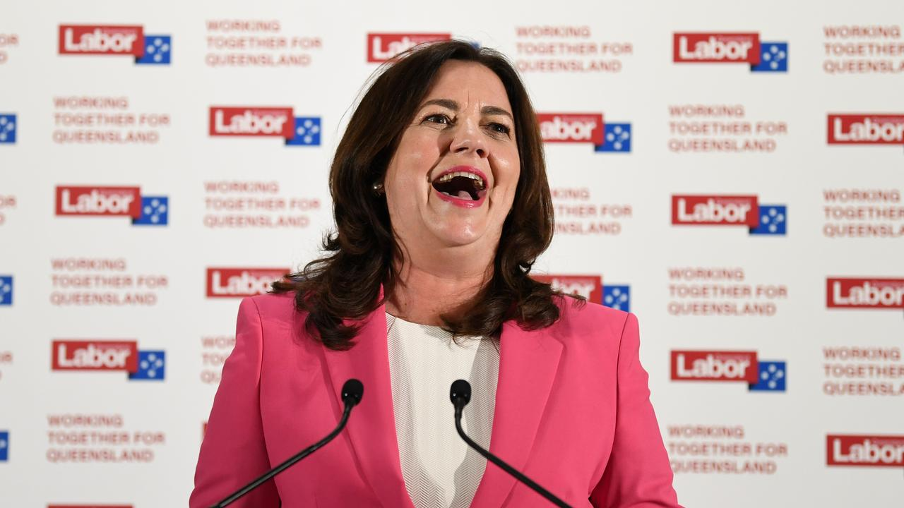 Queensland Premier Annastacia Palaszczuk was victorious in the state election. Picture: NCA NewsWire/Dan Peled