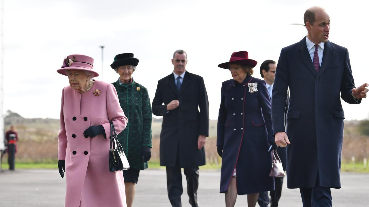 Britain's Queen Elizabeth II (left) with other members of the Royal family. Picture: Ben Stansall/WPA/Getty Images