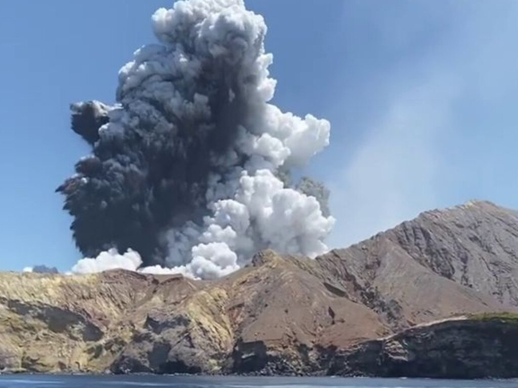 White Island volcano eruption.