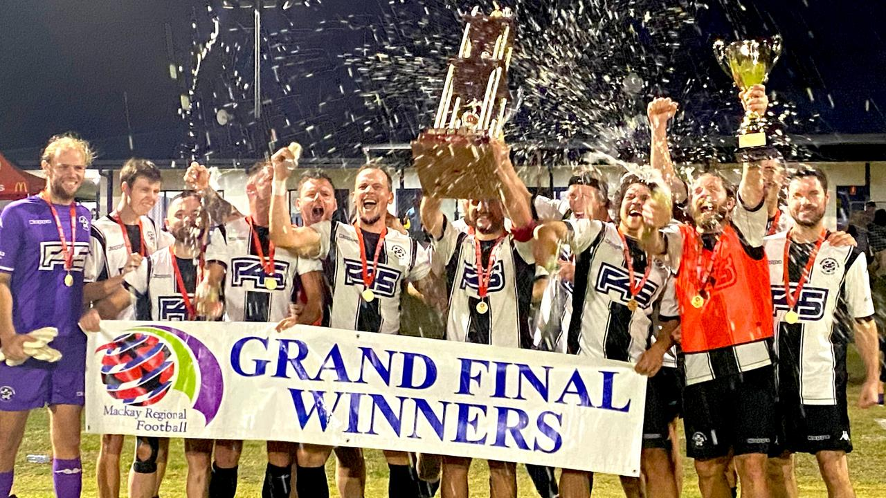 Mackay Regional Football Zone Premier League grand final. Magpies FC defeated Magpies Crusaders 2-1. Picture: Callum Dick