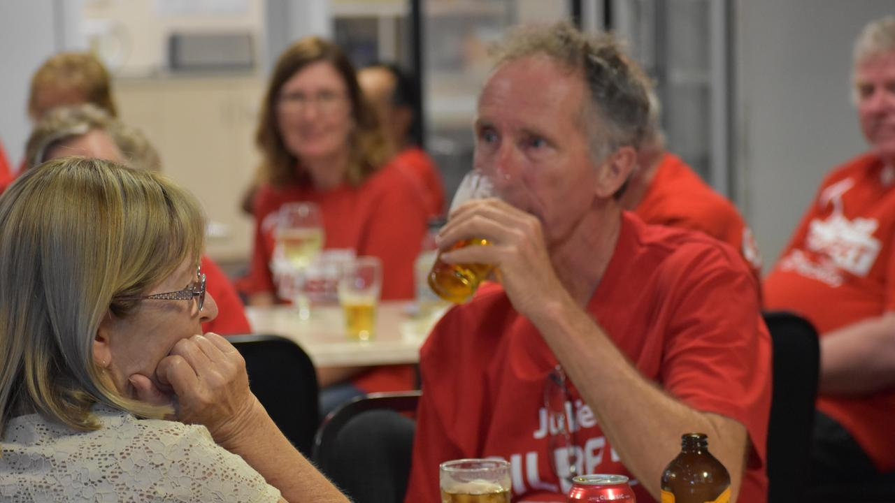 Labor volunteers at Julieanne Gilbert's election watching party.