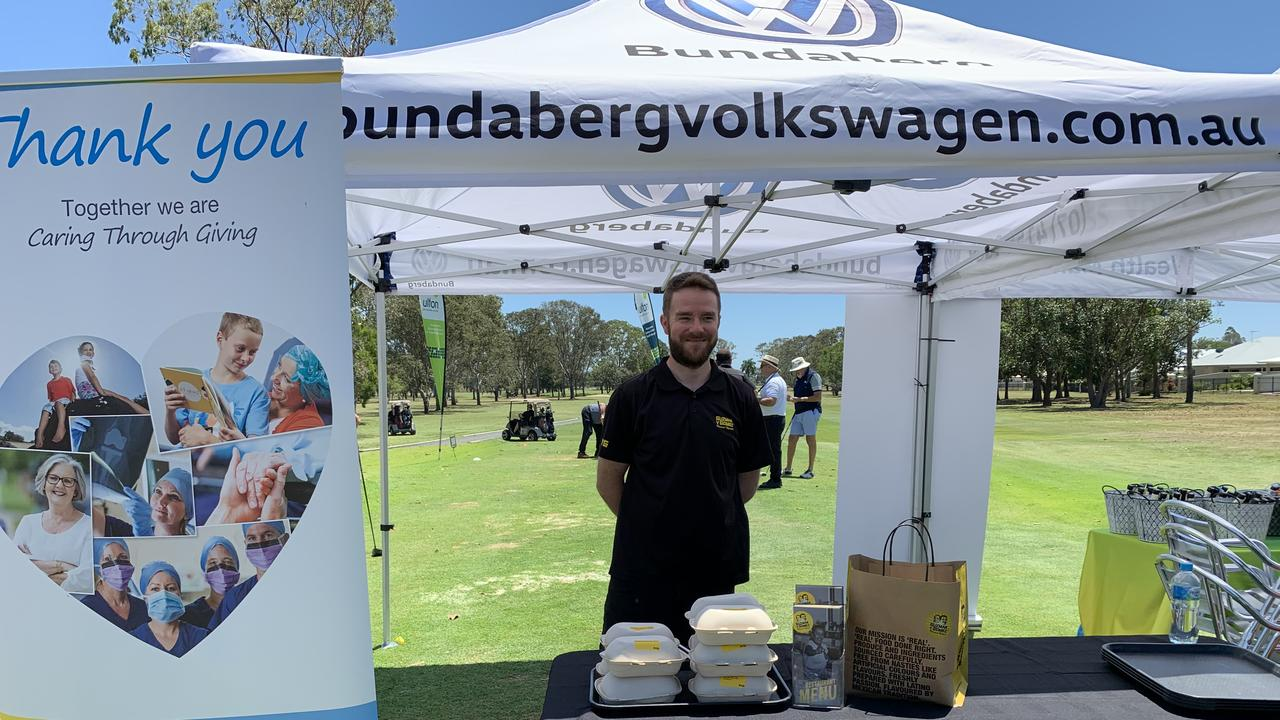 Guzman y Gomez Bundaberg store manager Daniel Lines served burrito bowls to the masses. Picture: Rhylea Millar