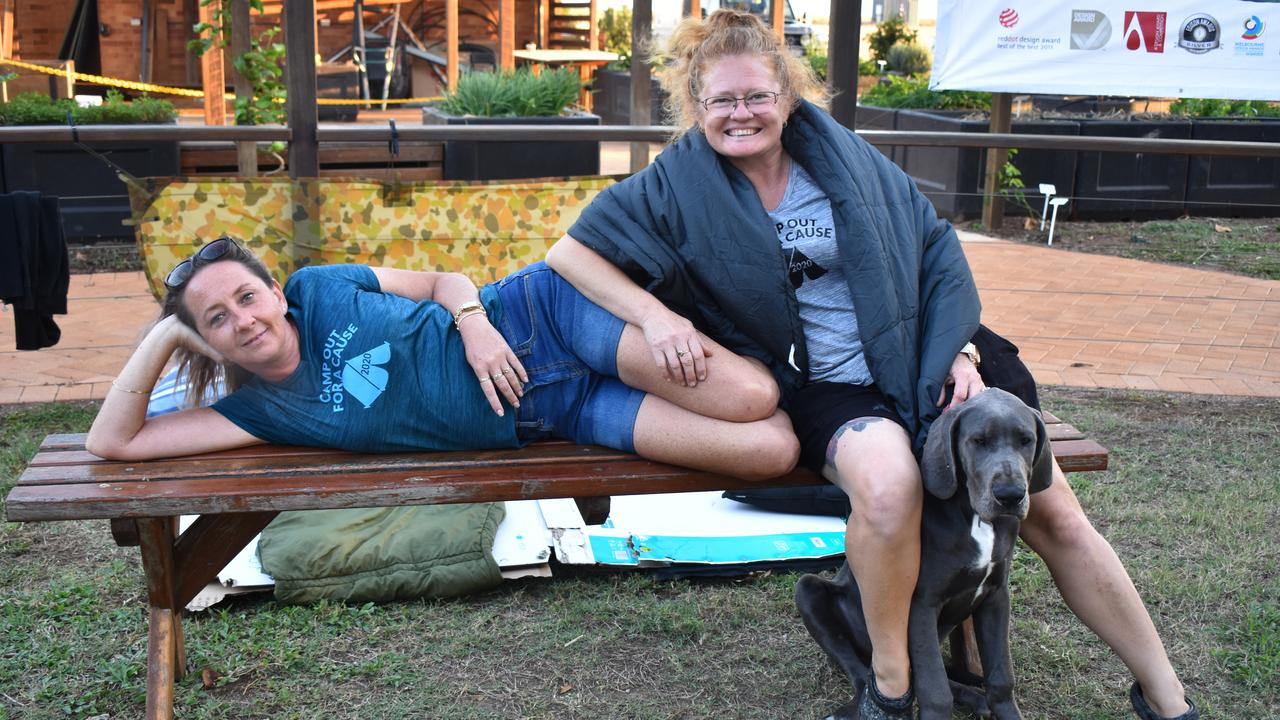 Event organiser Jodi Morris from Community Lifestyle Support, with Mel Stevens and Panzer. Picture: Rhylea Millar