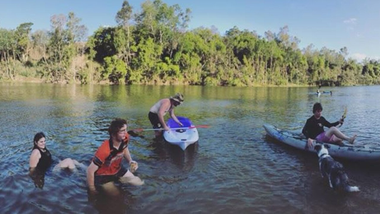 The land management plan said kayak and paddle boarding hire, ice cream stands and coffee stands could set up along the river. Picture: Kayla Day