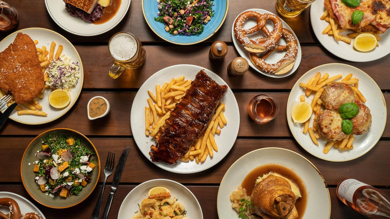 A selection of The Bavarian food and drinks.