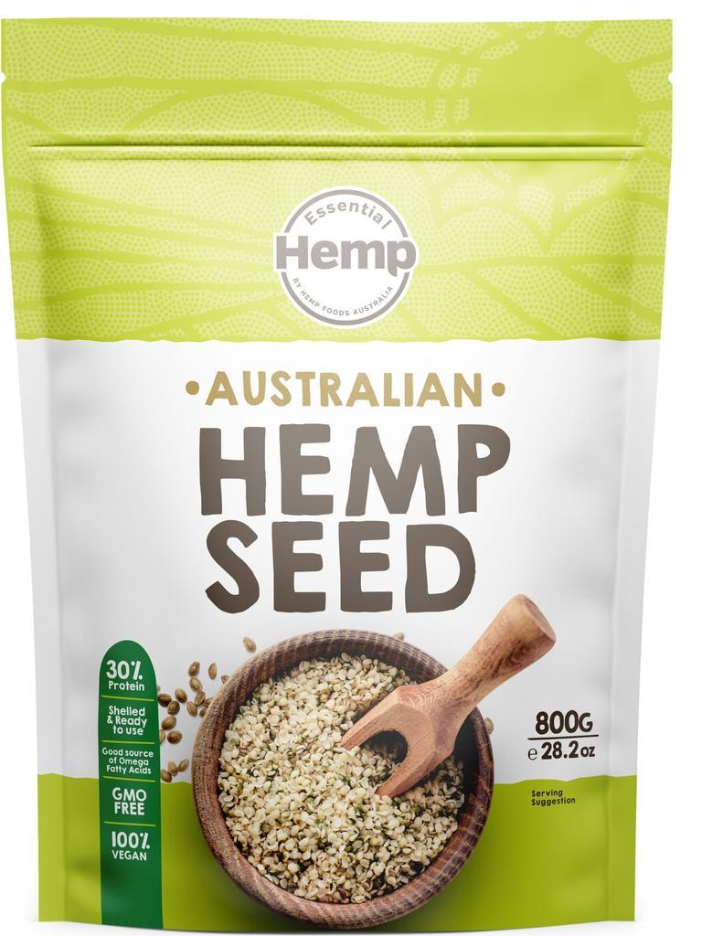 Hemp Foods Australia has launched a 100 per cent Australian grown hemp seed pouch.
