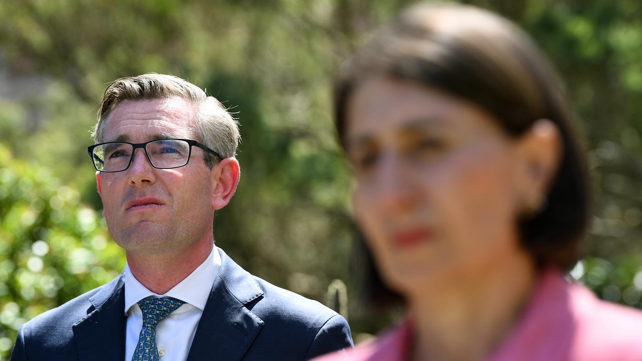NSW Treasurer Dominic Perrottet with Premier Gladys Berejiklian. Picture: NCA NewsWire/Joel Carrett