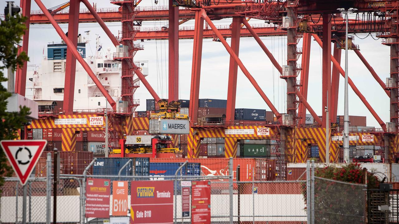 Industrial action at Sydney's Port Botany is behind much of the delays. Picture: Julian Andrews.