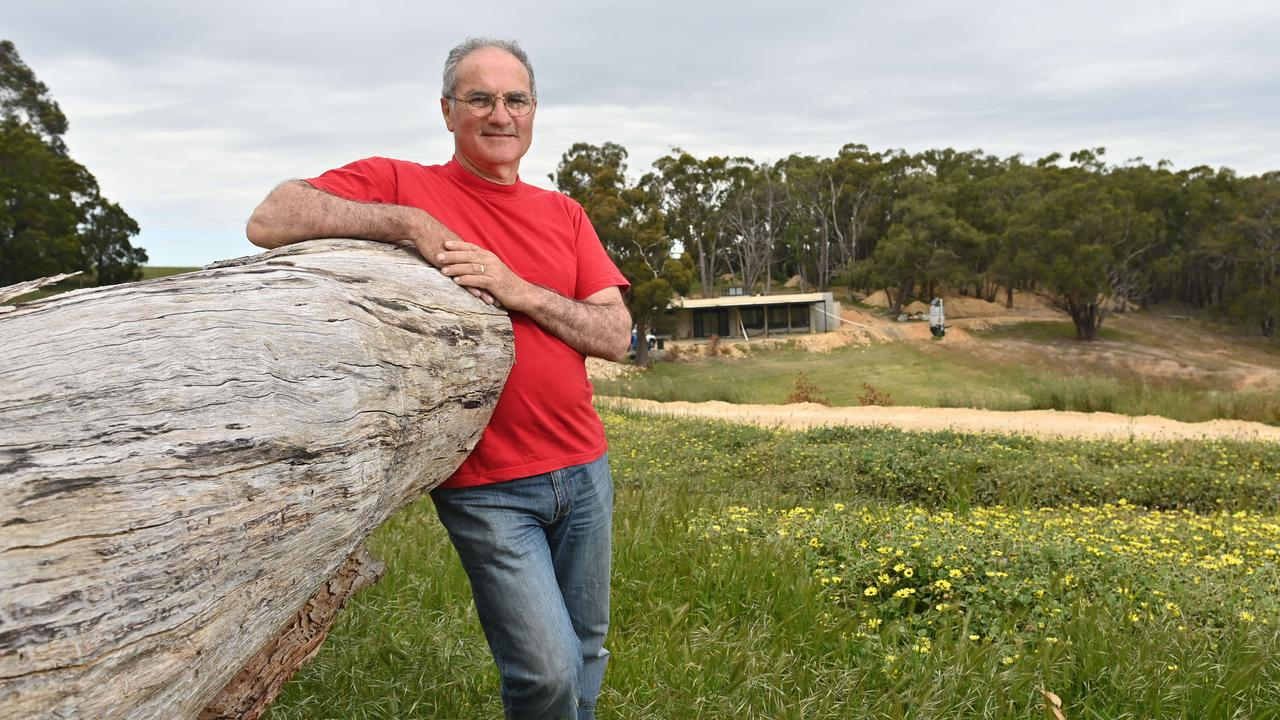 Peter Hardy invests his super and other money ethically and is also building an off-the-grid eco home. Picture: Keryn Stevens