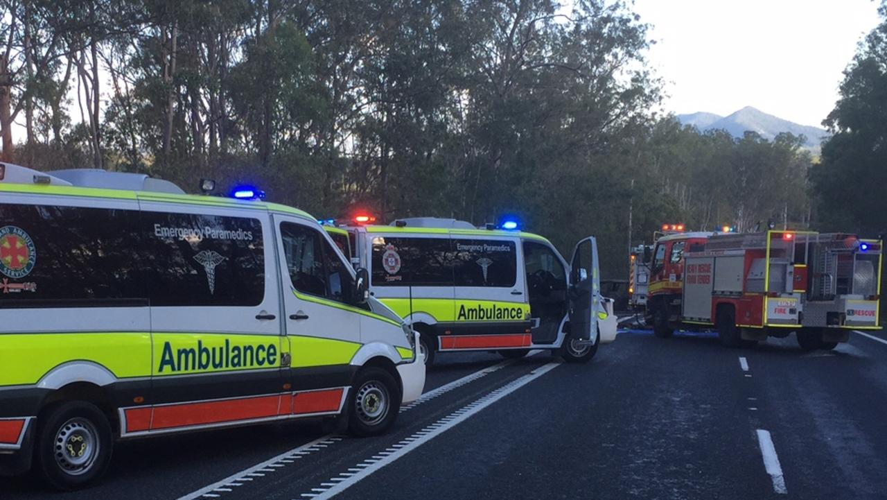 The Bruce Highway is closed due to a serious crash north of Rockhampton.