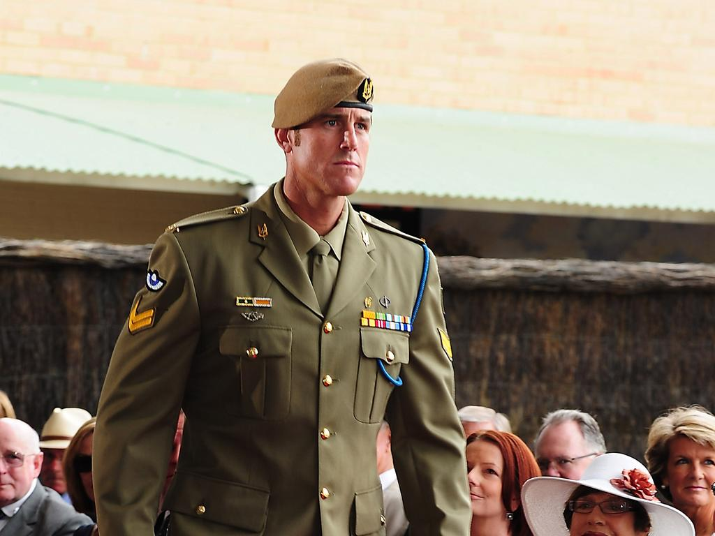 Ben Roberts-Smith is awarded a Victoria Cross in January 2011. He became the 98th Australian recipient of the award.