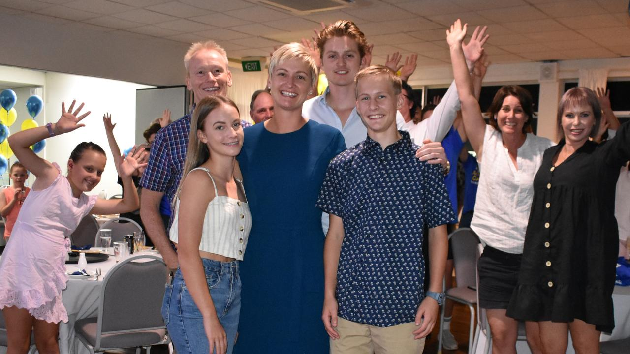 Amanda Camm with partner Brendan Webb and children Lachlan Bryan, 19, Abigail Vickers, 15, and Braithan Vickers, 13. Picture: Melanie Whiting
