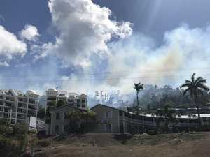 Smokey Airlie Beach blaze contained as crews monitor scene