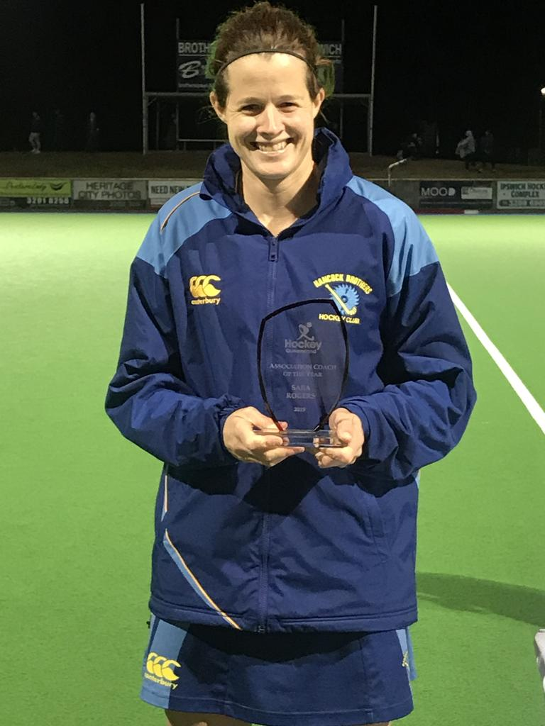 Hockey Queensland award winner and successful player and coach Sara Rogers.