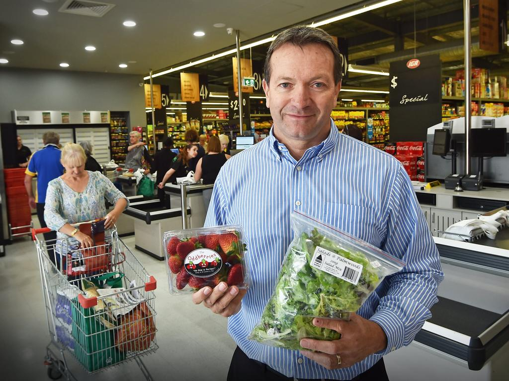 Cornetts CEO Graham Booysen says the Jones Rd IGA in Buderim hasn't suffered as much as feared since the supermarket giant Coles opened across the road.